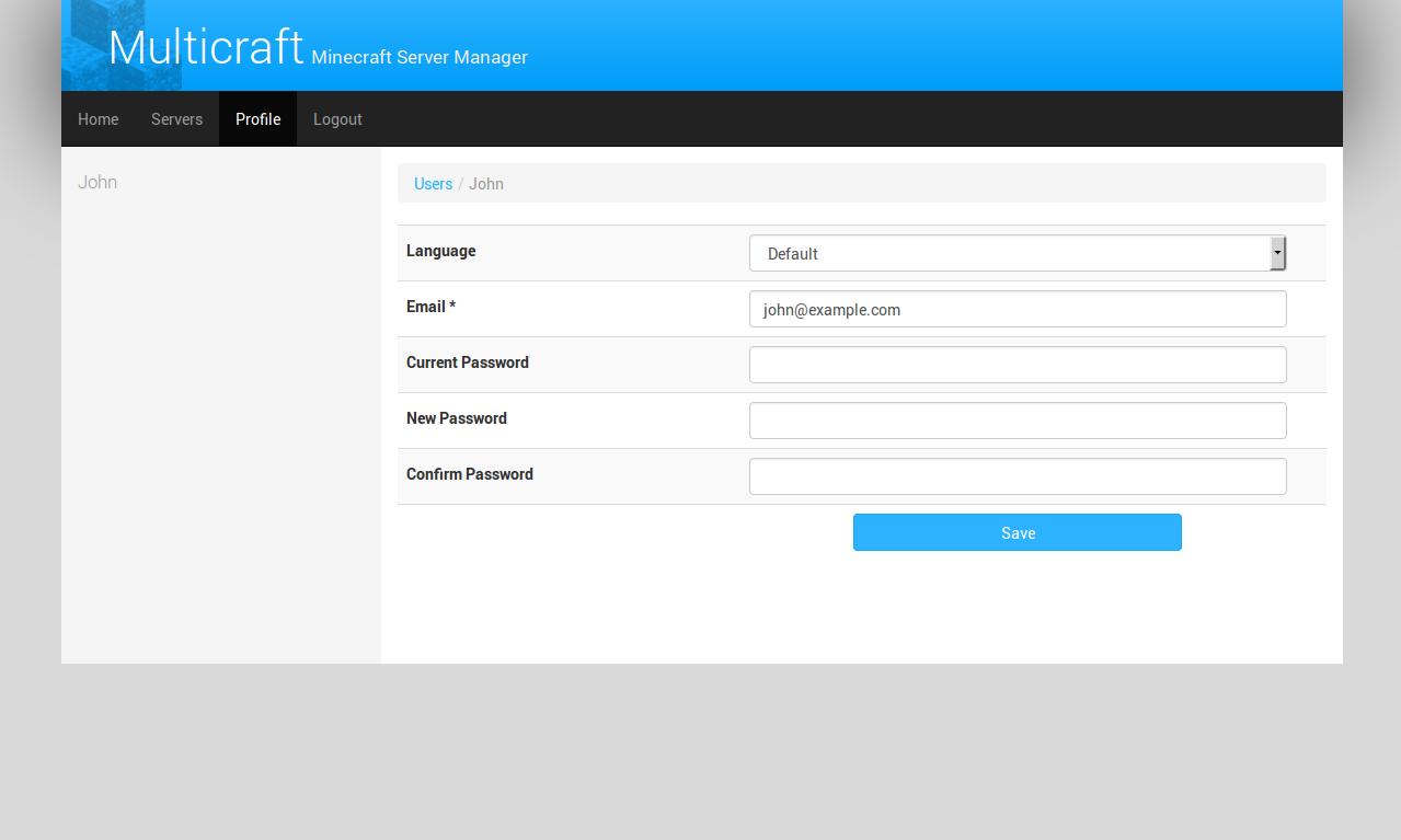 Multicraft User Profile