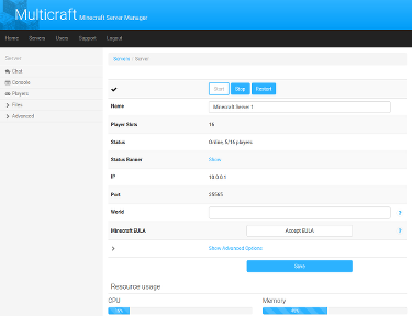 Multicraft The Minecraft Hosting Solution - Minecraft server admin erstellen